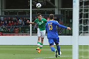 Troy Parrot of Republic of Ireland (10) heads back towards goal during the UEFA European Under 17 Championship 2018 match between Bosnia and Republic of Ireland at Stadion Bilino Polje, Zenica, Bosnia and Herzegovina on 11 May 2018. Picture by Mick Haynes.