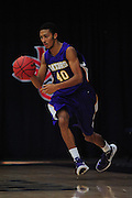 November 28, 2011; Moraga, CA, USA; San Francisco State Gators guard Andre Jones (40) dribbles the ball during the first half of the Shamrock Office Solutions Classic consolation game against the Jacksonville State Gamecocks at McKeon Pavilion. The Gators defeated the Gamecocks 71-68.