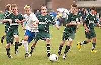 Gilford versus Raymond boys soccer October 27, 2010.