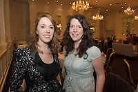 "Maire Threasa Ni Cheallaigh TG4  and Caroline Crawford, Irish Independent at the launch of Ronan Scully's New booke ""Time Out"" An Innovative collaboration of words, reflections and stories of goodness, tenderness and positivity for all our lives combine to great effect in this new publication published by Ballpoint Press in aid of Self Help Africa and `The Irish Guide dogs for the Blind  at Hotel Meyrick in Galway. Picture:Andrew Downes"