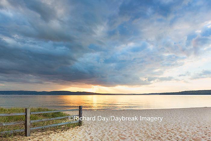 64795-01314 Sunset on South Bay, Lake Superior, Munising, Upper Peninsula, MI