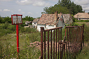 Land belonging to poor, rural housing near the town of Bakonyszentlaszlo, Gyor-Moson-Sopron, Hungary
