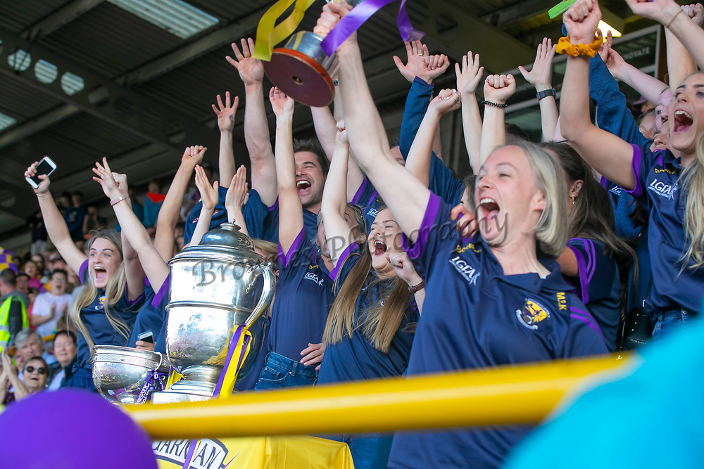 01/07/2019. Wexford GAA Homecoming at Innovate Wexford Park where the Senior Leinster Hurling and Minor Champions and the Ladies Football winners arrived to a large crowd. Picttured at the Ladies Leinster Football Champions. Picture: Patrick Browne