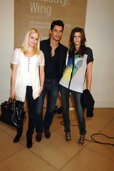 Left to right,  ANNABELLE HORSEY, DAVID GANDY and CHLOE PRIDHAM at a private view of Bryan Adam's photographs entitled 'Modern Muses' held at The National Portrait Gallery, London on 11th March 2008.<br />