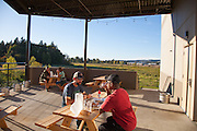 Outdoor dining with a view at Ancestry Brewing in Tualatin Oregon