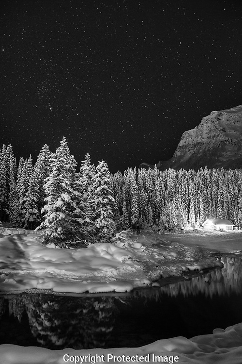 Srarry night around Lake Louise, Alberta, Canada, Isobel Springett