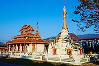 Thailande, Mae Hong Son, Wat Hua Wieng // Thailand, Mae Hong Son, Wat Hua Wieng