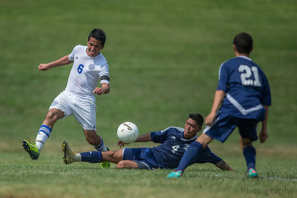 Sussex County Community College Men's Soccer sophomore Jose Mecias (6) - Middlesex County College Men's Soccer at Sussex County Community College in Newton, NJ on Saturday September 6, 2014. (photo / Mat Boyle)