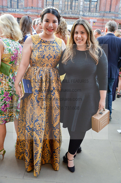 Left to right, Wendy Yu  and Mary Katrantzou at the V&A Summer Party 2017 held at the Victoria & Albert Museum, London England. 21 June 2017.