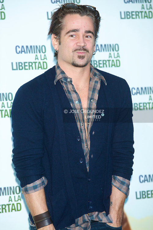 Irish actor Colin Farrel attends the photocall of 'The way back' at Eurostars Hotel in Madrid