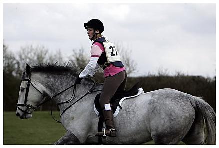 Buckingham Riding Club Eventer Trials at Milton Keynes Riding Club..5-4-2009.24 Houston and 27 Dexie