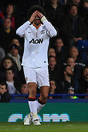 Marouane Fellaini of Manchester United is disappointed after missing a chance during the Barclays Premier League match at Selhurst Park, London<br /> Picture by David Horn/Focus Images Ltd +44 7545 970036<br /> 22/02/2014