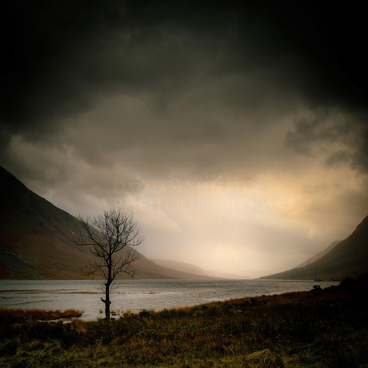 A look down Loch Etive on a dreich day.