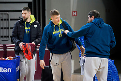 Gasper Vidmar, Edo Muric, Marko Macura during practice session of Slovenian National Basketball team before qualification matches for FIBA Basketball World Cup 2019, on February 20, 2017 in Arena Stozice, Ljubljana, Slovenia. Photo by Urban Urbanc / Sportida