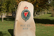 The RUC Memorial at the National Memorial Arboretum, Croxall Road, Alrewas, Burton-On-Trent,  Staffordshire, on 29 October 2018. Picture by Mick Haynes.