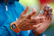 Richard Mille clock watch of Rafael NADAL (ESP) during the Roland Garros French Tennis Open 2018, single Final Men, on June 10, 2018, at the Roland Garros Stadium in Paris, France - Photo Stephane Allaman / ProSportsImages / DPPI