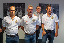 Team Driving, Degrieck Dries, Geerts Glenn, Simonet Edouard, Wentein Mark (Chef d'Equipe)<br /> Team presentation for WEG Tryon 2018<br /> Zaventem 2018<br /> © Hippo Foto - Dirk Caremans<br /> 22/08/2018