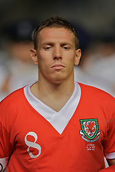 Nicosia, Cyprus - Saturday, October 13, 2007: Wales' captain Craig Bellamy lines-up to face Cyprus during the Group D UEFA Euro 2008 Qualifying match at the New GSP Stadium in Nicosia. (Photo by David Rawcliffe/Propaganda)