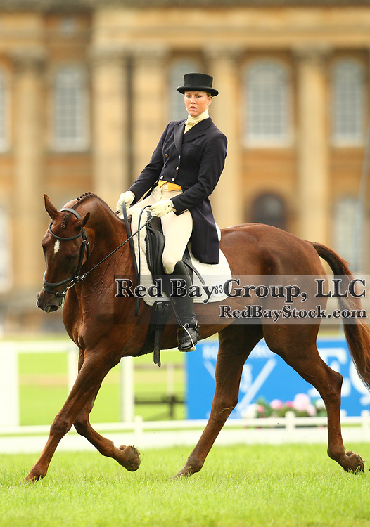 Allison Springer and Arthur at the 2008 Blenheim Palace International Horse Trials held in Woodstock, England