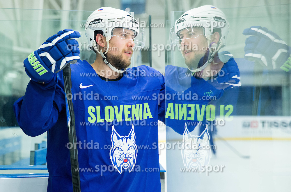 Mitja Robar of Slovenia during practice session of Slovenian National Ice Hockey Team 1 day prior to the 2015 IIHF World Championship in Czech Republic, on April 30, 2015 in Practice arena Ostrava, Czech Republic. Photo by Vid Ponikvar / Sportida