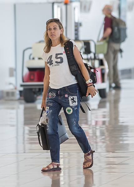 EXCLUSIVE: A make-up-free Sheryl Crow was spotted arriving in Adelaide on her current Australian tour, which she is co-headlining with Melissa Etheridge. Sheryl was fine spirits as she walked through the terminal with her two sons Levi and Wyatt. Sheryl has treated the tour as a little getaway as well, visiting the Great Barrier Reef and other Australian attractions. 04 Apr 2018 Pictured: Sheryl Crow. Photo credit: MEGA TheMegaAgency.com +1 888 505 6342