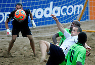 09 December 2006, Englands captain Jamie O'Rourke during their game at the Vodacom Pro Beach Soccer Tour in Durban's Bay of Plenty on Saturday. England won the game 3-1. Picture: Shayne Robinson, PhotoWire Africa