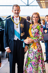 October 22, 2019, JAPAN: 22-10-2019 Inhuldiging Enthronement ceremony of Emperor Naruhito of Japan in Tokyo..Queen Letizia and King Felipe arrives at the Imperial Palace to attend the proclamation ceremony of Japans Emperor in Tokyo, Japan. (Credit Image: © face to face via ZUMA Press)