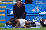 Donald Young Injury Timeout during the Aegon International Eastbourne at Devonshire Park, Eastbourne, United Kingdom on 29 June 2017. Photo by Jonathan Dunville.