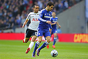 Chelsea's Cesc Fàbregas on the ball during the Capital One Cup Final between Chelsea and Tottenham Hotspur at Wembley Stadium, London, England on 1 March 2015. Photo by Phil Duncan.