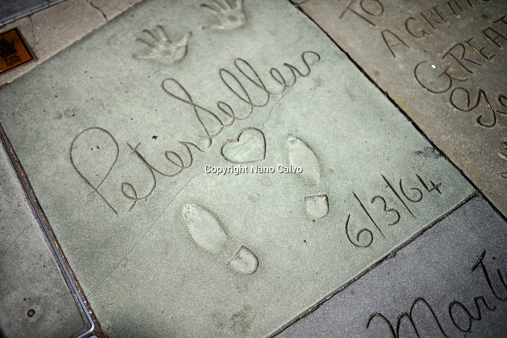 Peter Sellers´prints at Grauman's Chinese Theatre, Hollywood Boulevard.