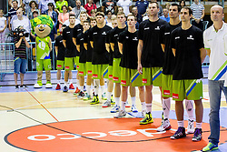 Team of Slovenia during friendly basketball match between National teams of Slovenia and Georgia in day 2 of Adecco Cup 2014, on July 25, 2014 in Dvorana OS 1, Murska Sobota, Slovenia. Photo by Vid Ponikvar / Sportida.com