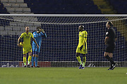 Sean Long and Scott Flinders react to conceding the 2nd goal  during the EFL Sky Bet League 2 match between Bury and Cheltenham Town at the JD Stadium, Bury, England on 27 November 2018.