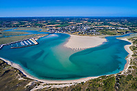 France, Manche (50), Cotentin, Portbail, le havre de Portbail // France, Normandy, Manche department, Portbail, Portbail haven
