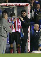 Photo: Mark Stephenson.<br /> Birmingham City v Sunderland. Coca Cola Championship. 20/02/2007.Sunderland's manager pats Danny Simpson on the back for a a good performance