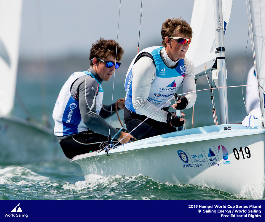 From 27 January to 3 February 2019, Miami will host sailors for the second round of the 2019 Hempel World Cup Series in Coconut Grove. More than 650 sailors from 60 nations will race across the 10 Olympic Events. ©PEDRO MARTINEZ/SAILING ENERGY/WORLD SAILING<br /> 03 February, 2019.