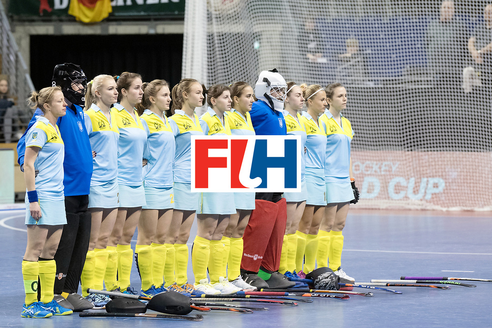 BERLIN - Indoor Hockey World Cup<br /> SF1 Netherlands - Ukraine<br /> foto: Line Up<br /> WORLDSPORTPICS COPYRIGHT FRANK UIJLENBROEK