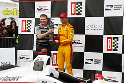 April 23, 2018 - Birmingham, Alabama, United States of America - RYAN HUNTER-REAY (28) of the United States celebrates in victory lane after finishing 2nd in the Honda Grand Prix of Alabama at Barber Motorsports Park in Birmingham, Alabama. (Credit Image: © Justin R. Noe Asp Inc/ASP via ZUMA Wire)