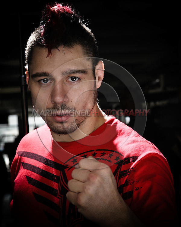 "A portrait of mixed martial arts athlete Dan ""The Outlaw"" Hardy"