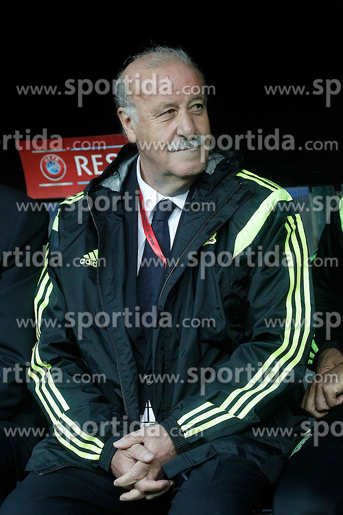 05.09.2015, Stadio Nuevo Carlos Tartiere, Oviedo, ESP, UEFA Euro 2016 Qualifikation, Spanien vs Slowakei, Gruppe C, im Bild Spain's coach Vicente del Bosque // during the UEFA EURO 2016 qualifier Group C match between Spain and Slovakia at the Stadio Nuevo Carlos Tartiere in Oviedo, Spain on 2015/09/05. EXPA Pictures &copy; 2015, PhotoCredit: EXPA/ Alterphotos/ Acero<br /> <br /> *****ATTENTION - OUT of ESP, SUI*****