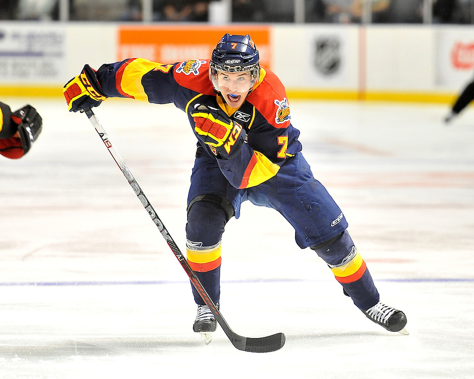 Jake Evans of the Erie Otters. Photo by Aaron Bell/OHL Images Photo by Terry Wilson / OHL Images.