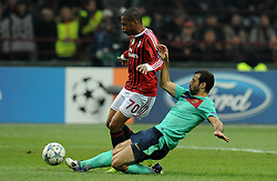 23.11.2011, Giuseppe Meazza Stadion, Mailand, ITA, UEFA CL, Gruppe H, AC Mailand (ITA) vs FC Barcelona (ESP), im Bild ROBINHO (Milan) chiede il fallo di rigore, Javier MASCHERANO (Barcellona) // during the football match of UEFA Champions league, group H, between Gruppe H, AC Mailand (ITA) and FC Barcelona (ESP) at Giuseppe Meazza Stadium, Milan, Italy on 2011/11/23. EXPA Pictures © 2011, PhotoCredit: EXPA/ Insidefoto/ Alessandro Sabattini..***** ATTENTION - for AUT, SLO, CRO, SRB, SUI and SWE only *****