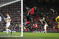 Football - 2018 / 2019 Premier League - Manchester United vs. Burnley<br /> <br /> Paul Pogba of Manchester United reacts as his shot is ruled off side at Old Trafford.<br /> <br /> COLORSPORT/LYNNE CAMERON