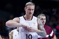 September 17, 2018 - Madrid, Spain - Janis Timma of Latvia during the FIBA Basketball World Cup Qualifier match Spain against Latvia at Wizink Center in Madrid, Spain. September 17, 2018. (Credit Image: © Coolmedia/NurPhoto/ZUMA Press)