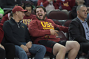 Matt Katnik attends an NCAA college basketball game between the Southern California Trojans and the Western Kentucky Hilltoppers in the second round of the NIT tournament in Los Angeles, Monday, Mar 19, 2018. WKU defeated USC 79-75.