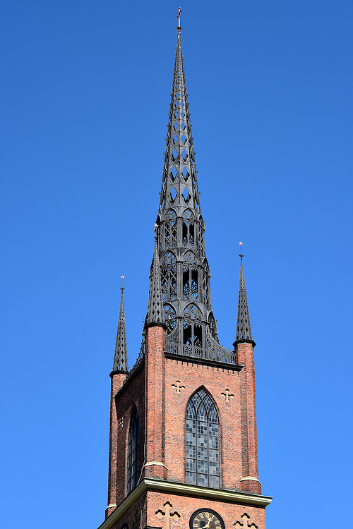 Riddarholm Church Spire in Stockholm, Sweden <br />