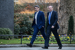 © Licensed to London News Pictures. 30/01/2019. London, UK. Gavin Patterson, Chief Executive Officer of British Telecom (BT) and Philip Jansen, incoming Chief Executive Officer of BT walk through Downing Street. Photo credit : Tom Nicholson/LNP