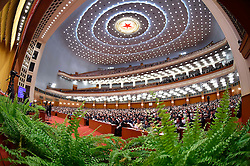 The closing meeting of the fourth session of the 12th National Committee of the Chinese People's Political Consultative Conference is held at the Great Hall of the People in Beijing, capital of China, March 14, 2016. EXPA Pictures © 2016, PhotoCredit: EXPA/ Photoshot/ Li Tao<br /> <br /> *****ATTENTION - for AUT, SLO, CRO, SRB, BIH, MAZ, SUI only*****