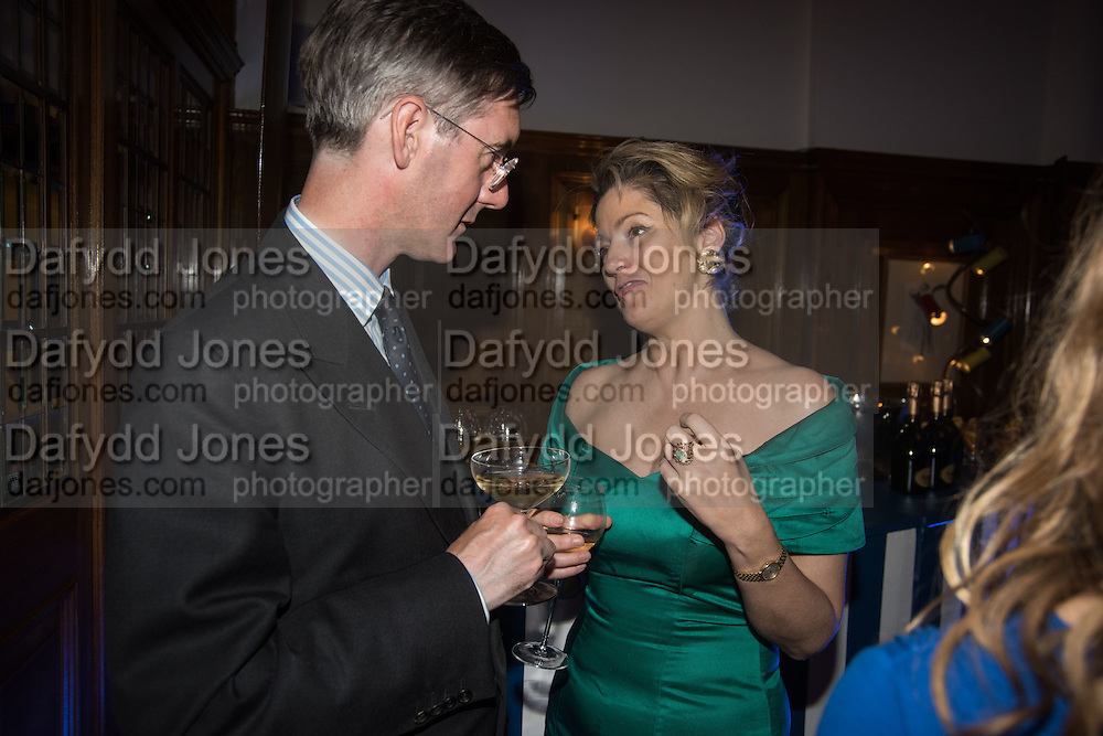 JACOB REES-MOGG; PETRONELLA WYATT, The Brown's Hotel Summer Party hosted by Sir Rocco Forte and Olga Polizzi, Brown's Hotel. Albermarle St. London. 14 May 2015