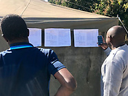Early results posted outside the Polling station in Hatfield outside Harare - 31 July 2018