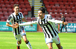Dunfermline&rsquo;s Faissal El Bahktaoui (10) celebrates after scoring their first goal.  <br /> Dunfermline 5 v 1 Cowdenbeath, Scottish League Cup game played today at East End Park.